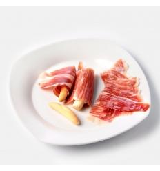 Sliced iberico bellota (acorn) ham
